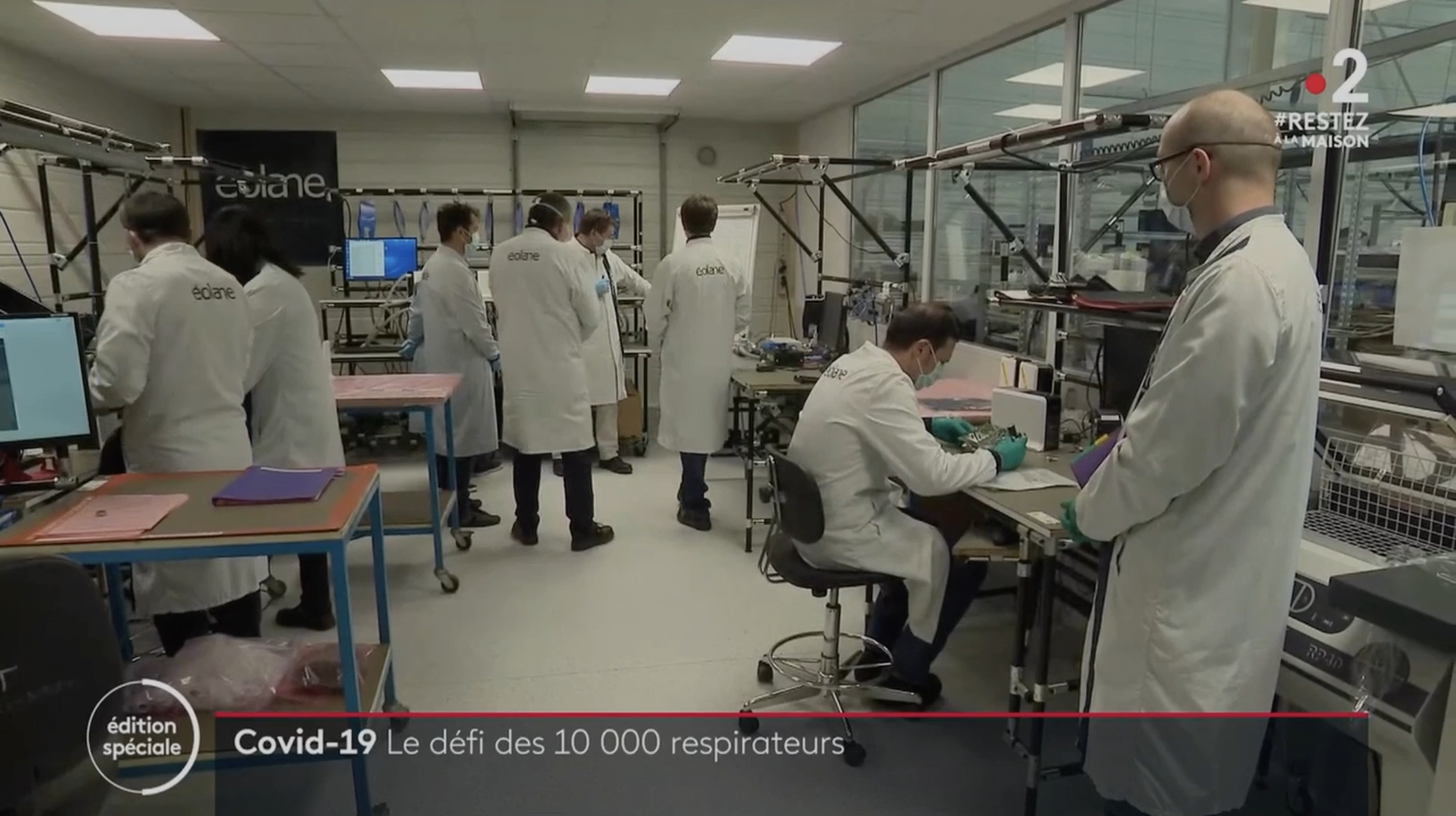 10000 respirateurs en 50 jours, journal France 2