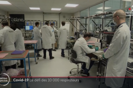 50 days for 10000 respirators, France 2 TV