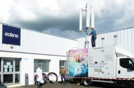 Picture Bouygues Telecom installs an antenna on the éolane parking in Ombrée-d'Anjou